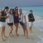 Volunteers Enjoying a Beach in Cancun