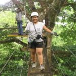 Volunteers Enjoying a Canopy Tour