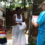 Volunteers Preforming a Public Health Survey in Jamaica