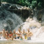 Volunteers Swimming At Dunn's Falls in Jamaica
