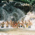 Volunteers Swimming At Dunns Falls Jamaica