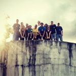 Belize Volunteers On Top of a Water Tower