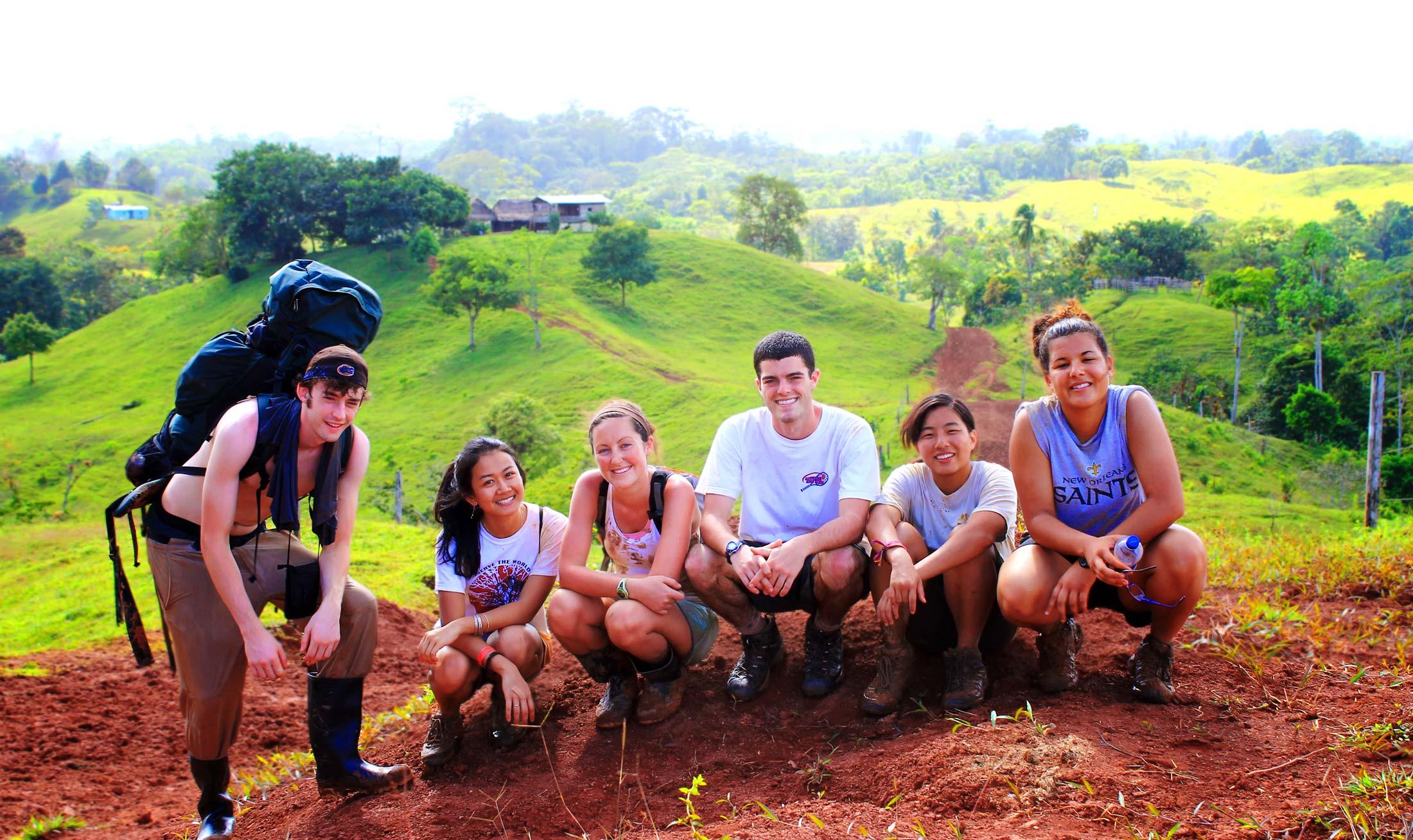 Hike For Humanity Volunteers Taking a Break