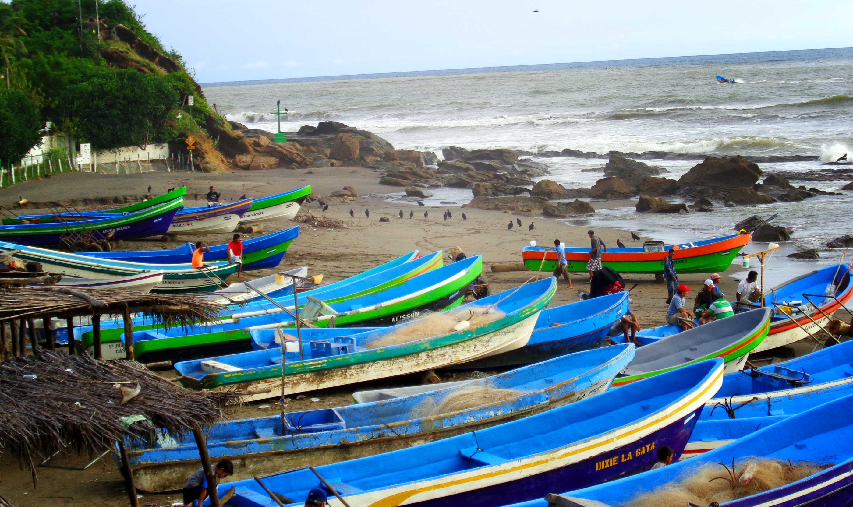 Boats On A Beach in Nicaragua